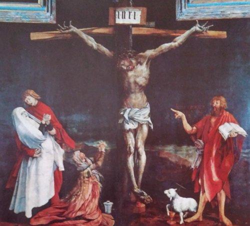 "Esta impresionante ""Crucifixión"" es obra del pintor Matías Grunewald"