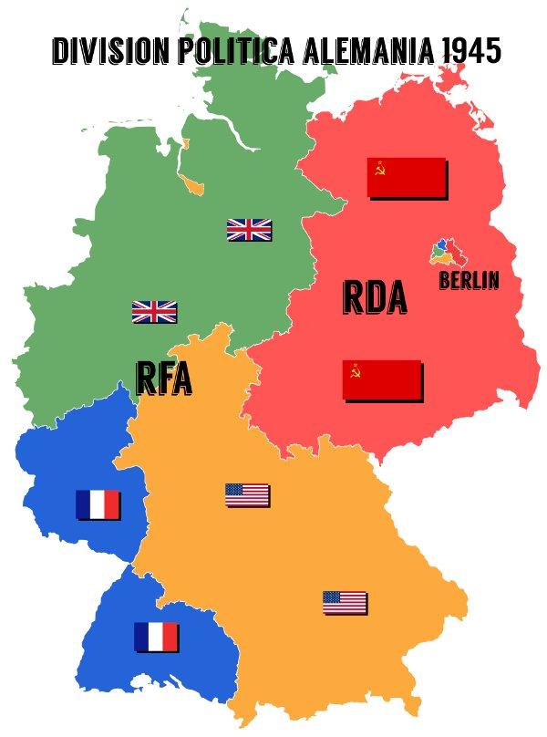 Division politica alemania 1945