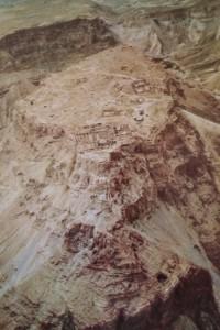 Fortaleza de Masada, arrebatada por los judíos a los romanos; pudieron mantenerla hasta el año 73 DC 3 años después de la caída de Jerusalén.