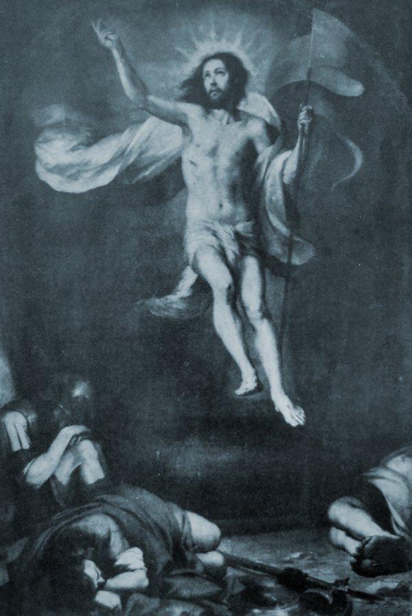 """La figura de Cristo resucitado ha atraído con frecuencia la atención de los pintores. Bartolomé Esteban Murillo es el autor de esta """"Resurrección"""""""