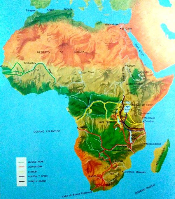Exploradores europeos del s XVIII en África